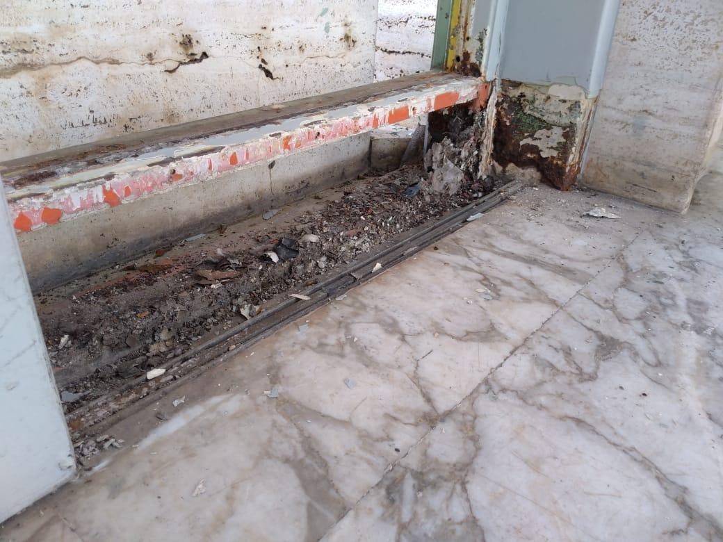 1. Situação encontrada - ferrugem e corrosão