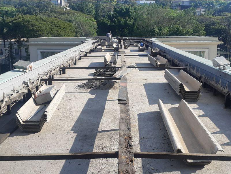 Remoção e montagem do telhado